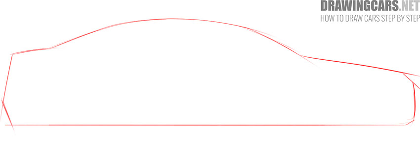 step 1 how to draw a car