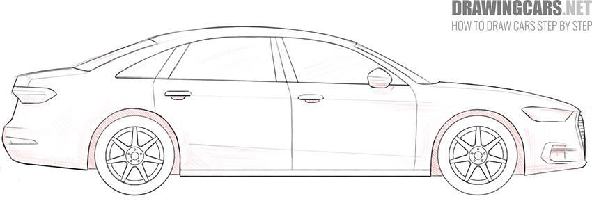 step 10 car drawing