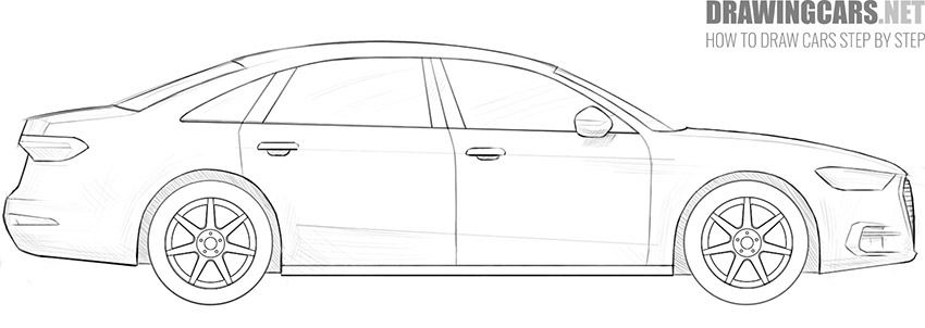step 11 how to draw a car