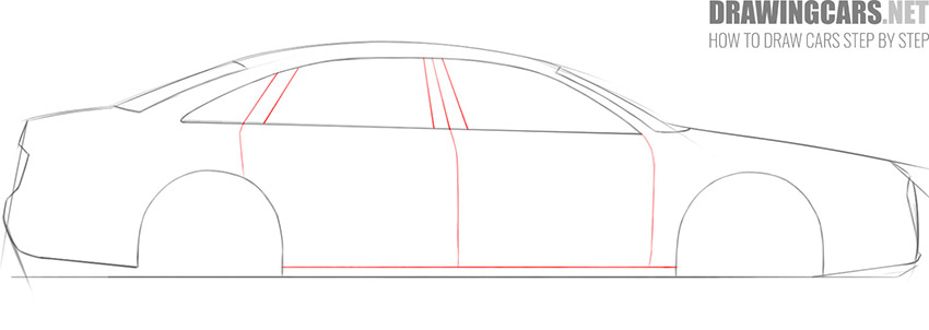 step 4 how to draw a car step by step