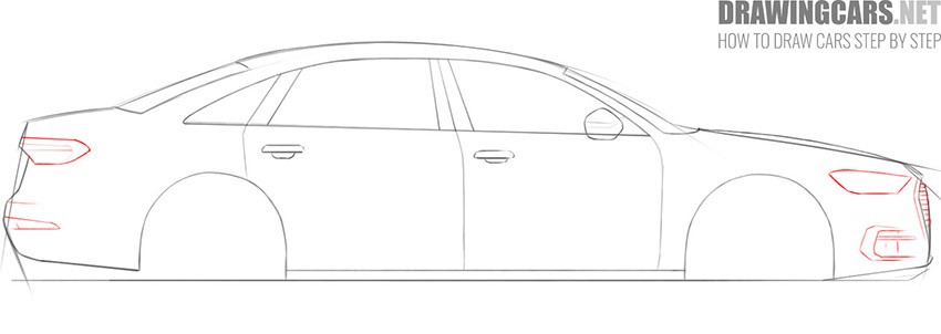 step 6 learn how to draw a car