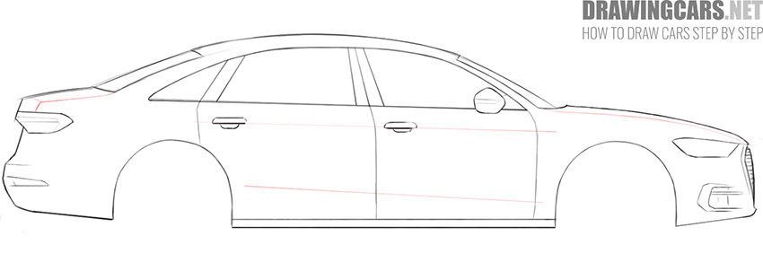 step 7 car drawing easy