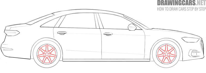 step 9 car drawing guide