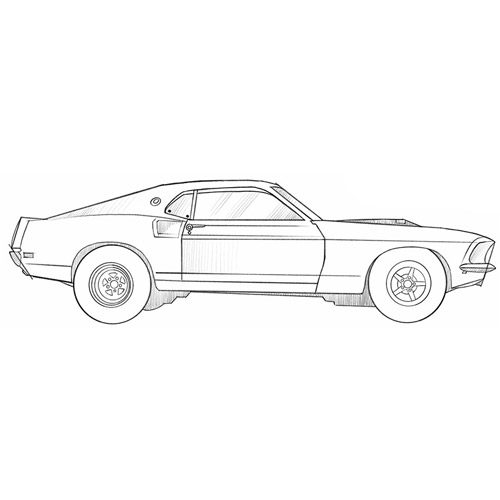 How to Draw a Drag Car