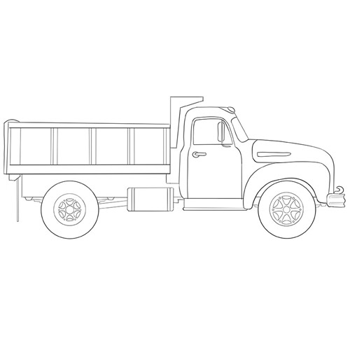 How to Draw a Big Truck for Beginners