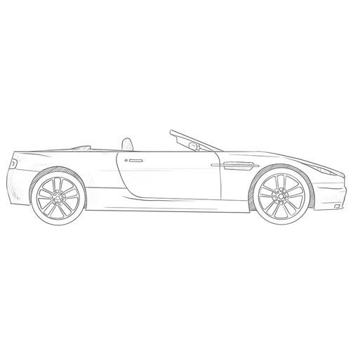 How to Draw a Cabriolet Car