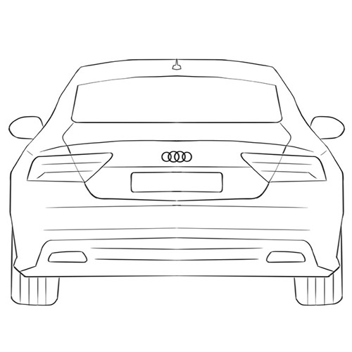 How to Draw a Car From the Back for Beginners