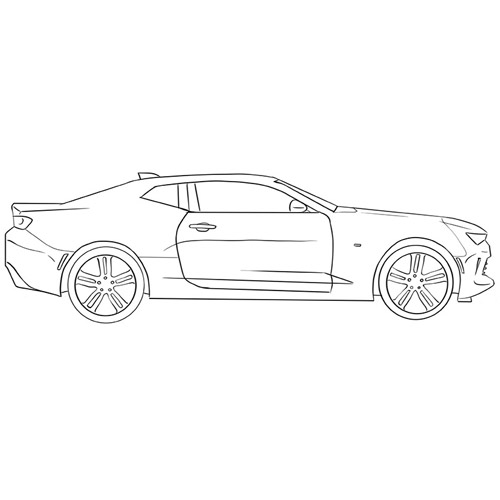 How to Draw a Chevrolet Camaro For Beginners