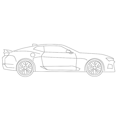How to Draw a Coupe Car for Beginners