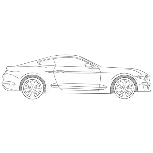 How to Draw a Ford Mustang Step by Step