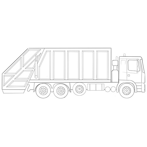 How to Draw a Garbage Truck For Beginners