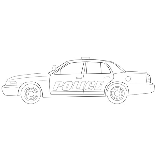 How to Draw a Police Car for Beginners
