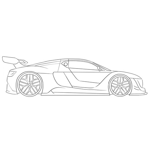 How to Draw a Racing Car for Beginners