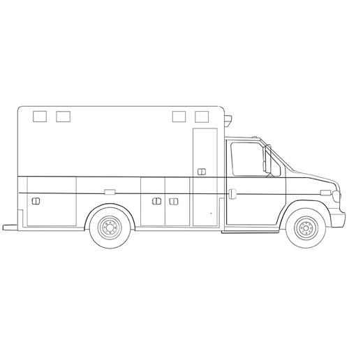 How to Draw an Ambulance Truck for Beginners