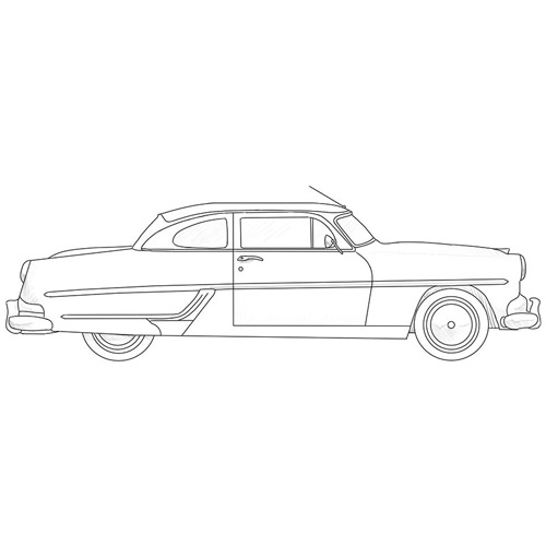 How to Draw an Old Car Step by Step