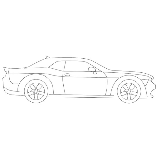 How to Draw a Dodge Challenger for Beginners