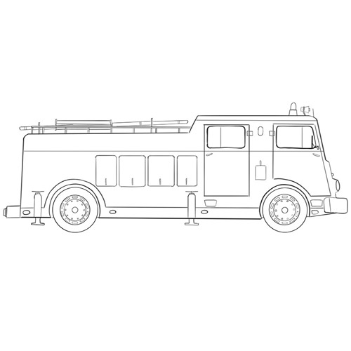 How to Draw a Fire Truck for Beginners