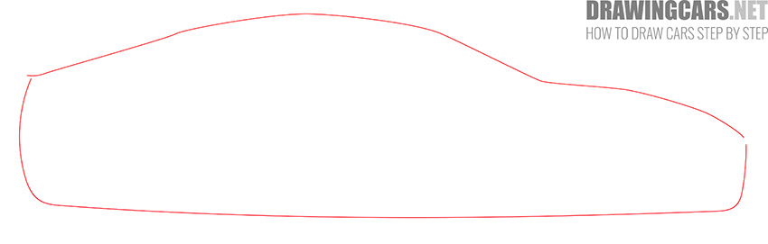 How to Draw a Tesla model S for Beginners step by step