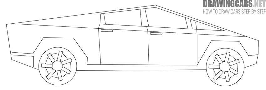 How to Draw a Tesla Cybertruck for Beginners