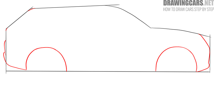 How to Draw a SUV for beginners fast
