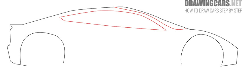 How to Draw a Tesla Roadster for Beginners step by step