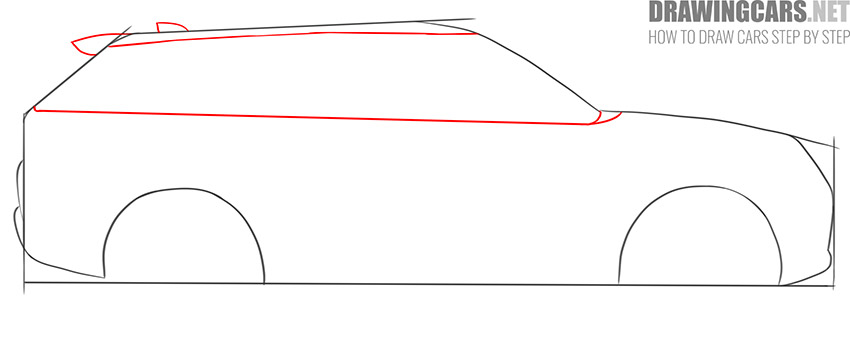 How to Draw a SUV for beginners step by step
