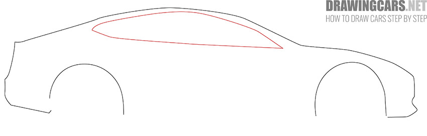 How to Draw a Tesla model S for Beginners fast