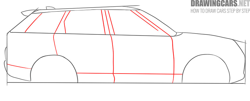 How to Draw a SUV for beginners drawing