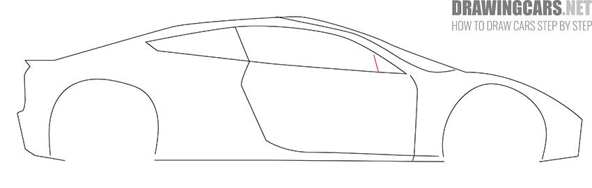 How to Draw a Tesla Roadster for Beginners tutorial