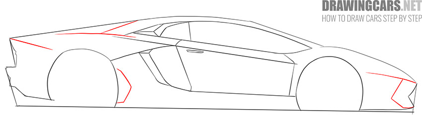 How to Draw a Supercar for Beginners drawing