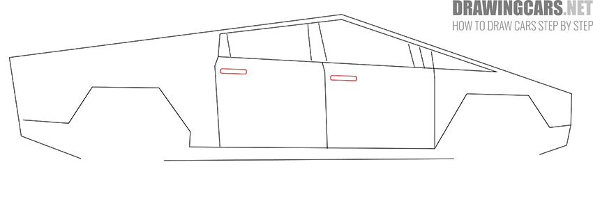 How to Draw a Tesla Cybertruck for Beginners drawing