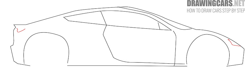 How to Draw a Tesla Roadster for Beginners lesson