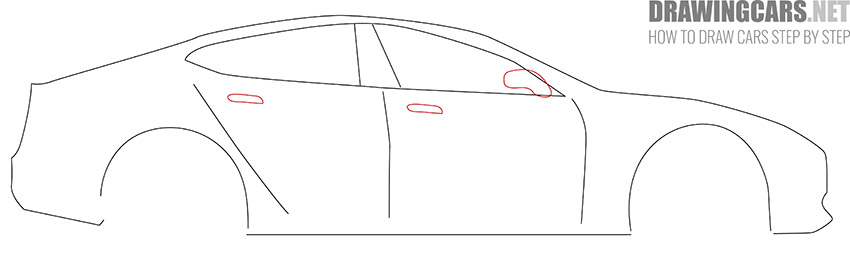 How to Draw a Tesla model S for Beginners guide