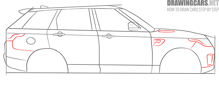 How to Draw a SUV for beginners simple