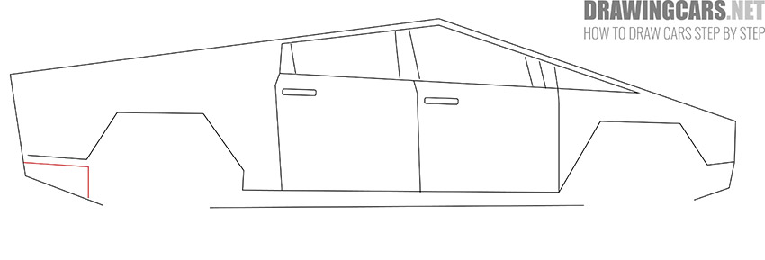 How to Draw a Tesla Cybertruck for Beginners lesson