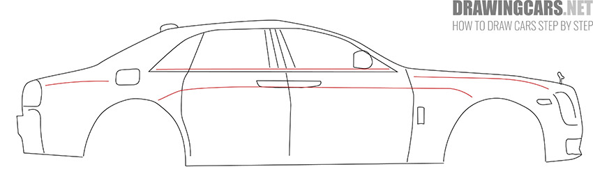 How to Draw a Rolls Royce for beginners easy