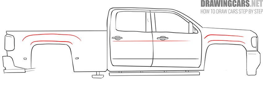 how to draw a Truck easy lesson
