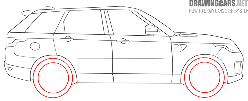 How to Draw a SUV for beginners tutorial