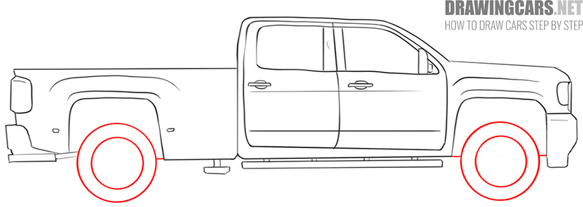 how to draw a Truck easy simple