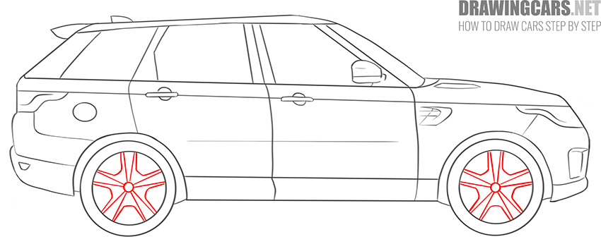 How to Draw a SUV for beginners lesson