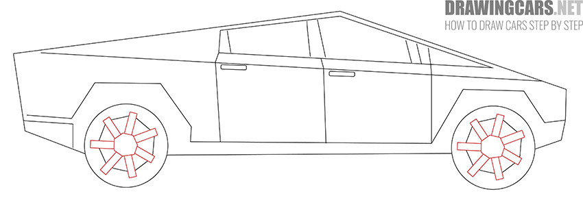 How to Draw a Tesla Cybertruck for Beginners easy