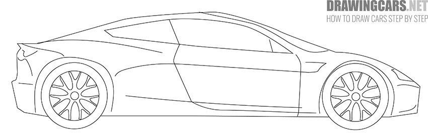 How to Draw a Tesla Roadster for Beginners