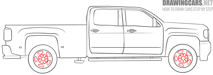 how to draw a Truck easy for beginners