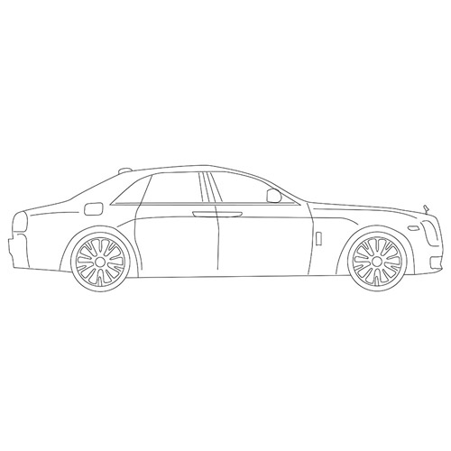 How to Draw a Rolls Royce for Beginners