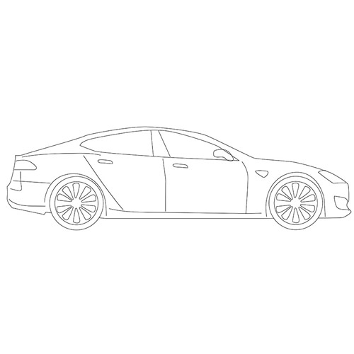 How to Draw a Tesla Model S for Beginners