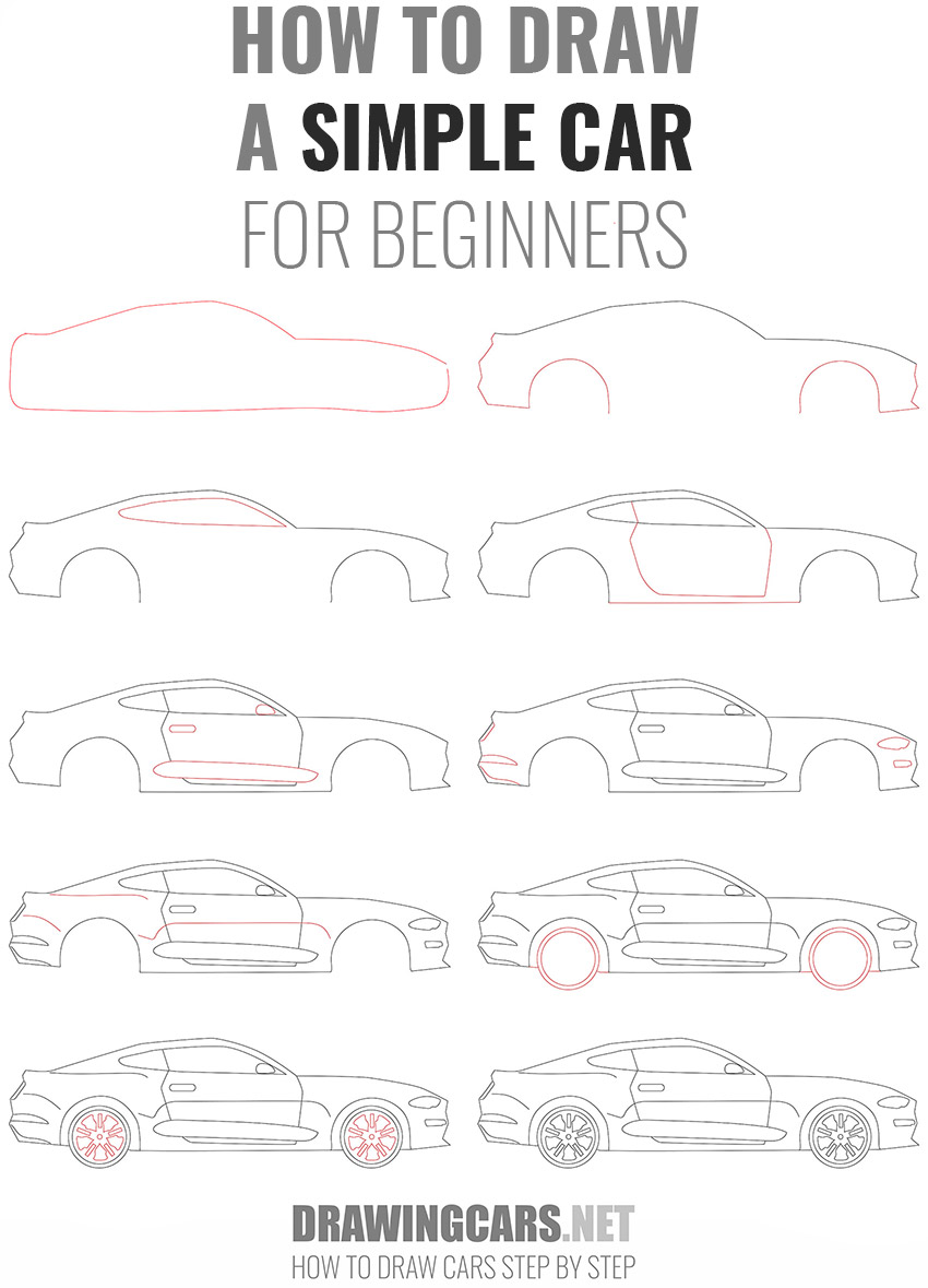 how to draw a SIMPLE CAR beginners